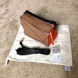 Authentic Loewe Puzzle Colorblock Calfskin bag